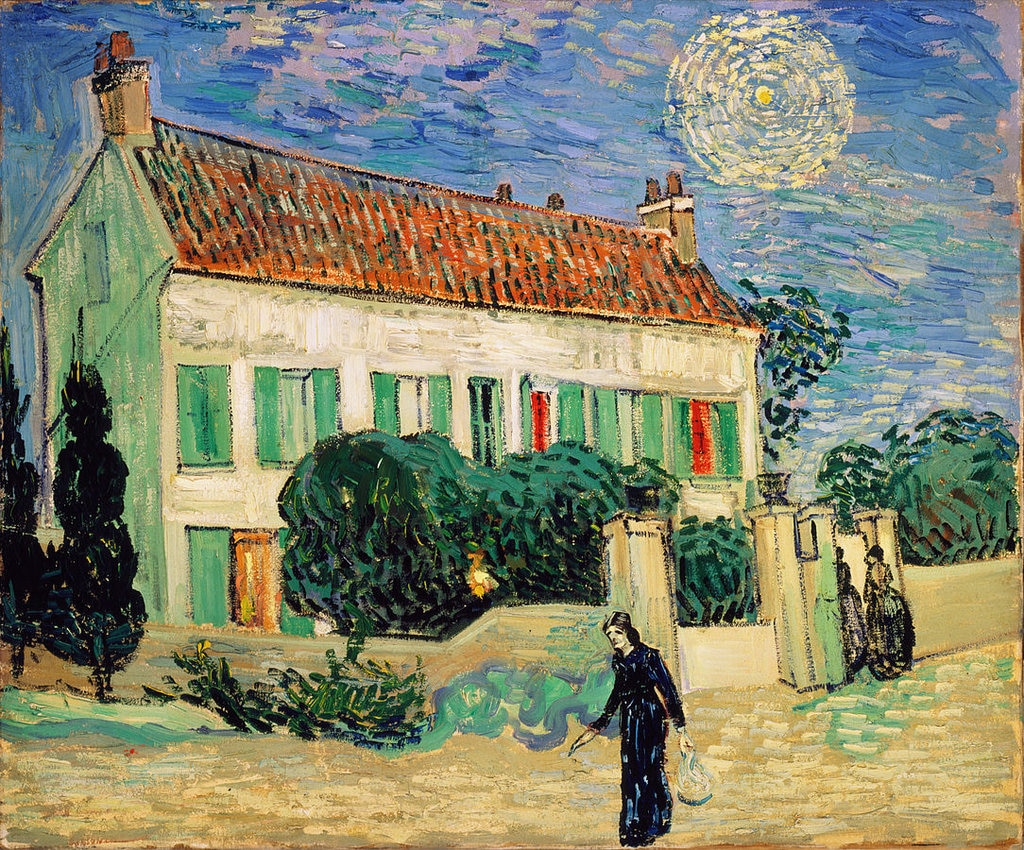 Casa bianca di notte - By Vincent van Gogh - Hermitage Torrent(.torrent with info-hash), Public Domain, https://commons.wikimedia.org/w/index.php?curid=809945