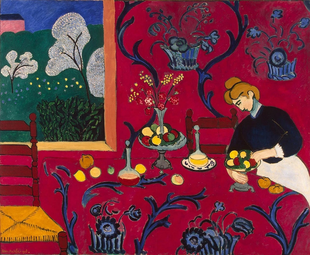 La stanza rossa, di Henri Matisse - by Gandalf's Gallery - Under Creative Commons license CC BY 2.0 (https://creativecommons.org/licenses/by/2.0/) - https://www.flickr.com/photos/gandalfsgallery/4811188791
