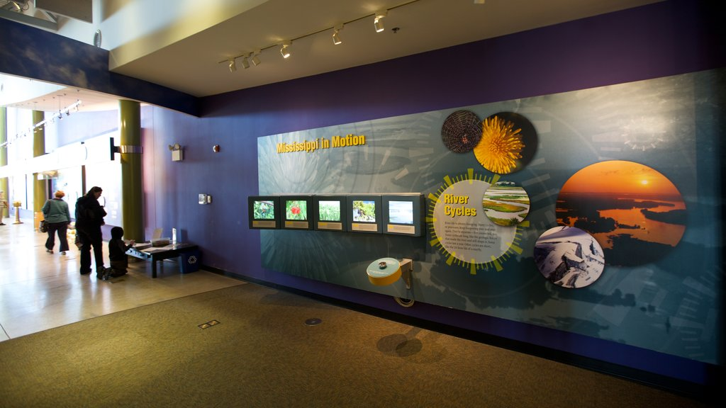 National Great Rivers Museum showing interior views