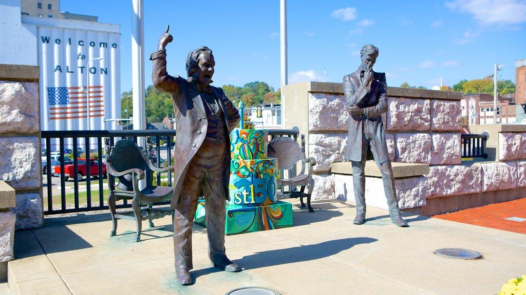 Alton featuring a statue or sculpture