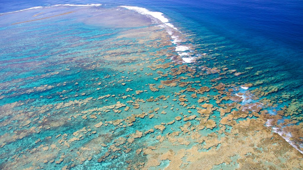 Tahiti which includes surf and colorful reefs