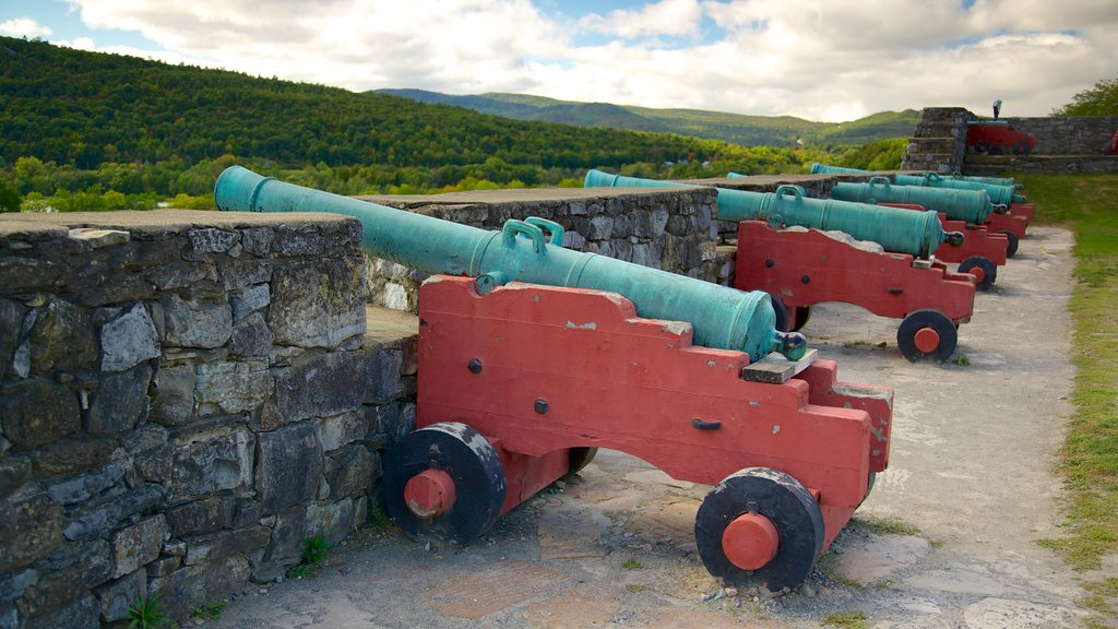 Fort Ticonderoga featuring military items and heritage elements