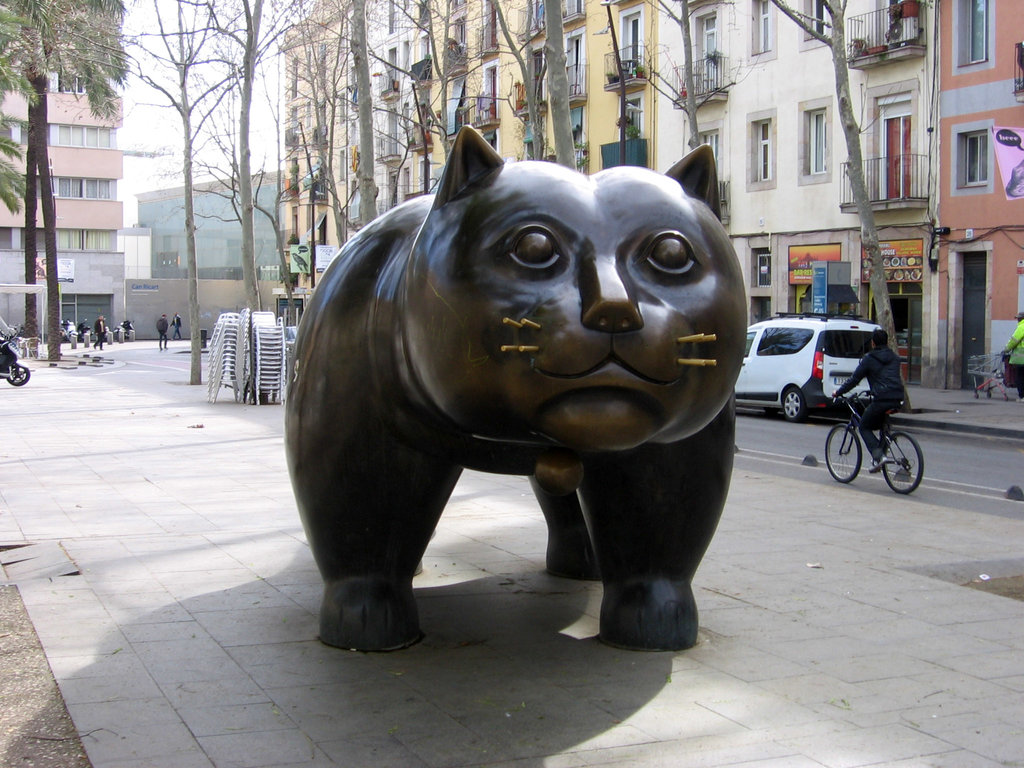 Il Gatto di Botero nella Rambla del Raval, By Canaan - Own work, CC BY-SA 3.0, https://commons.wikimedia.org/w/index.php?curid=31697759