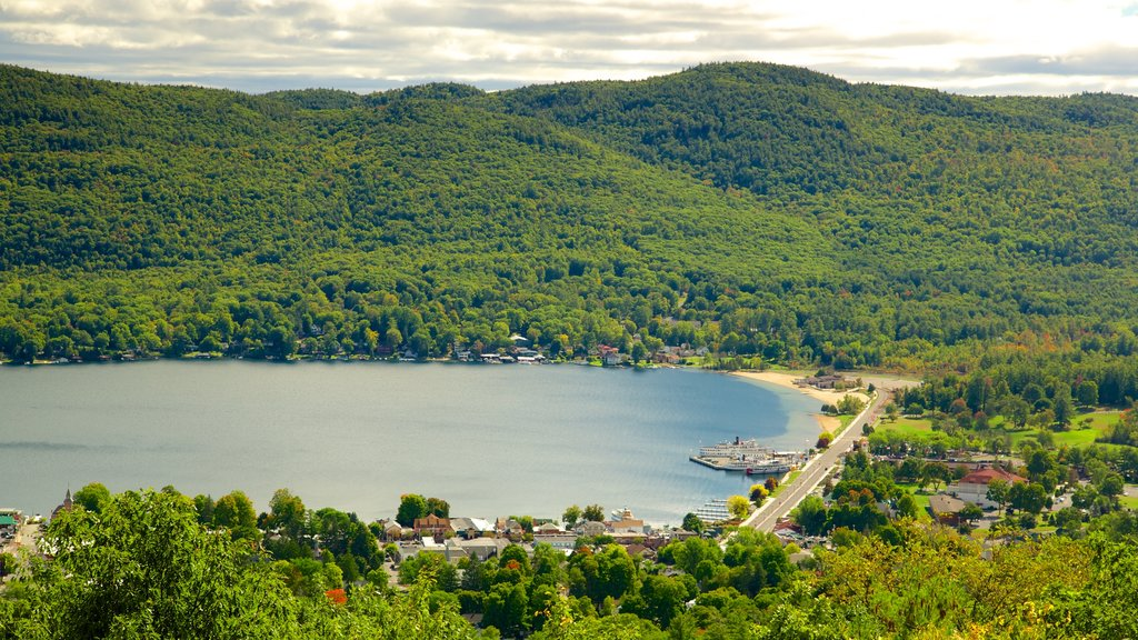 Lake George featuring a small town or village, a lake or waterhole and tranquil scenes