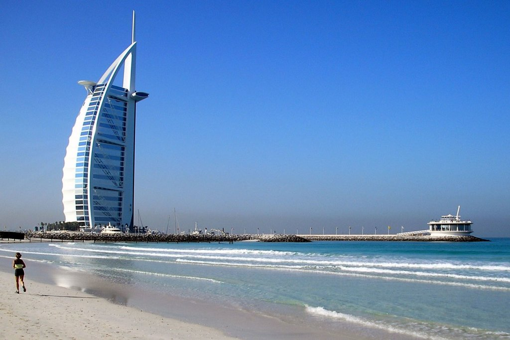 """Burj Al Arab"" by Kunal Mukherjee - Under Creative Commons CC BY-SA 2.0 (https://creativecommons.org/licenses/by-sa/2.0/) - https://www.flickr.com/photos/redlinx/337162407"