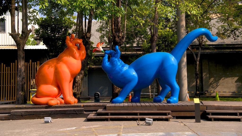 Pier-2 Art Center showing a statue or sculpture and outdoor art