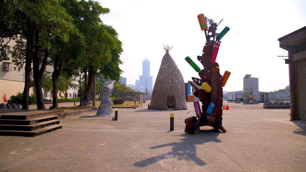 Pier-2 Art Center featuring outdoor art and a statue or sculpture