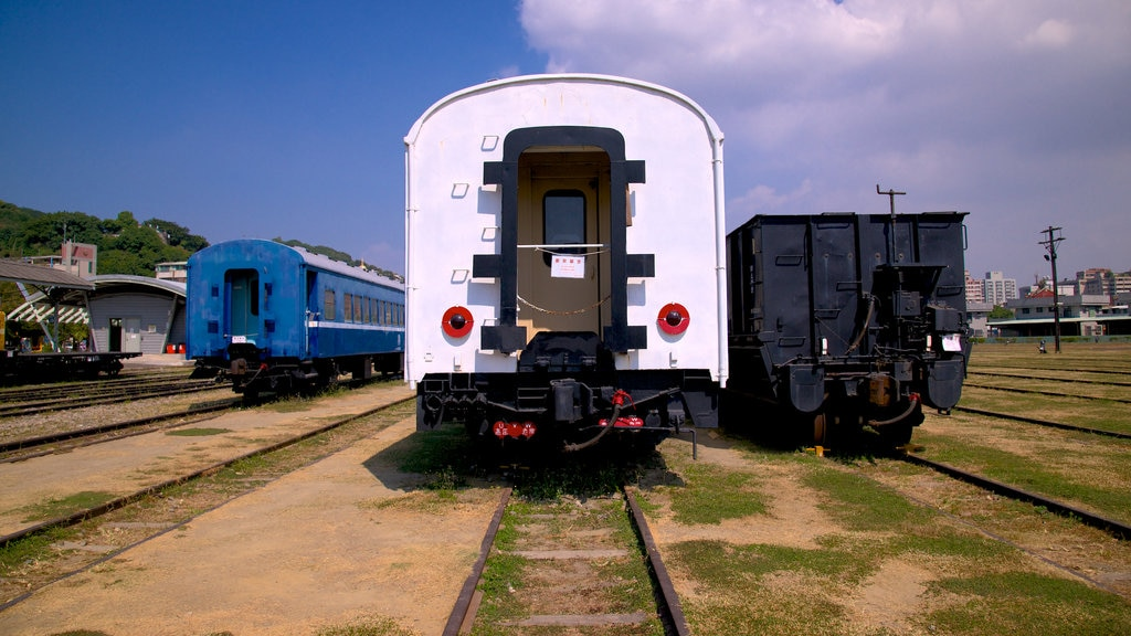 Takao Railway Museum showing railway items