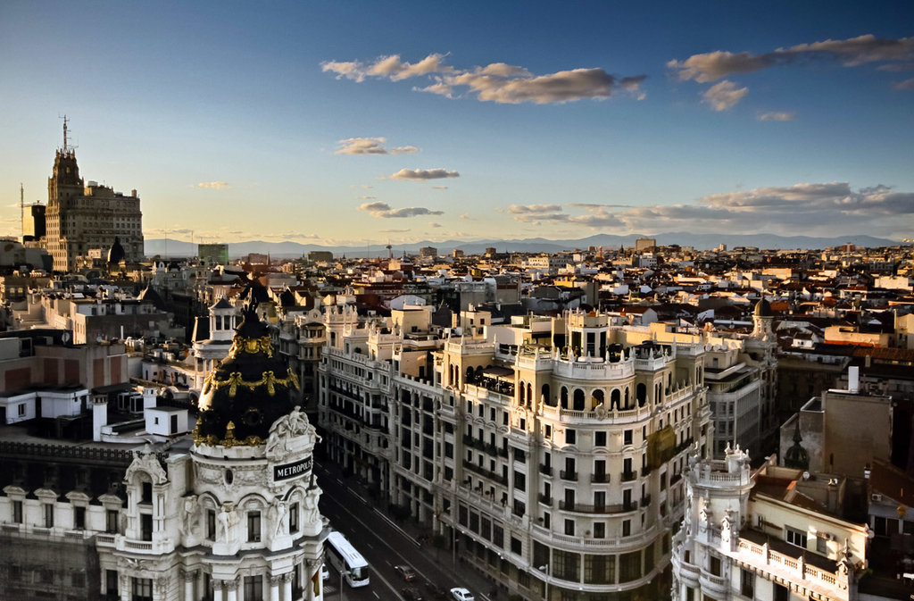 Madrid vista dall