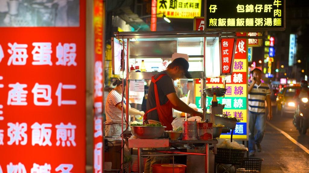 Zhonghua Night Market featuring night scenes and markets