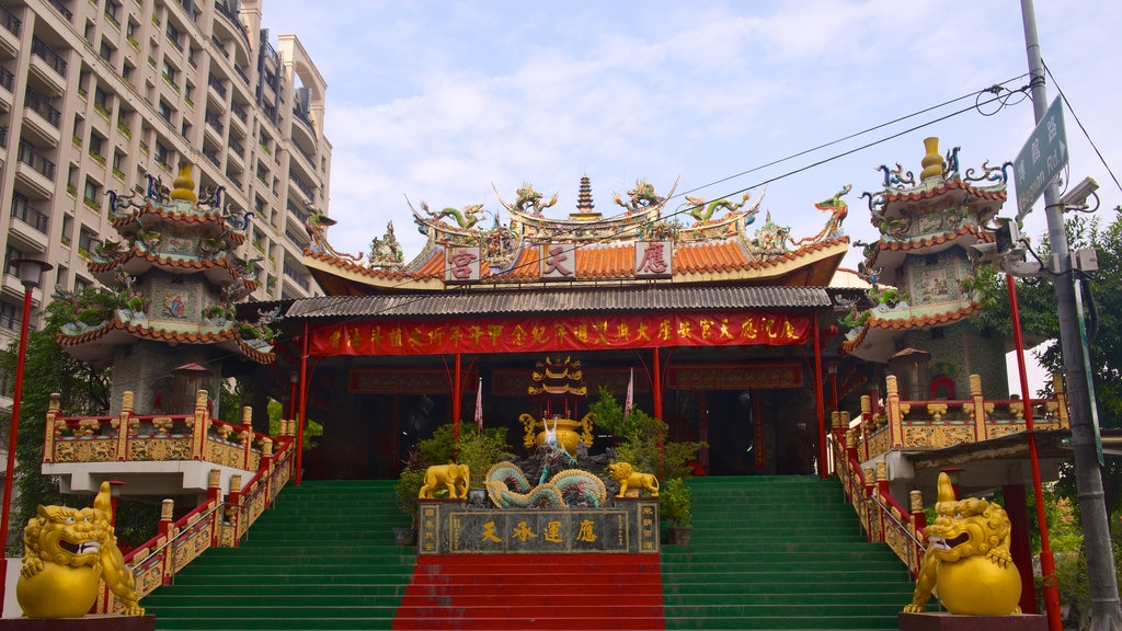 Taichung which includes a temple or place of worship