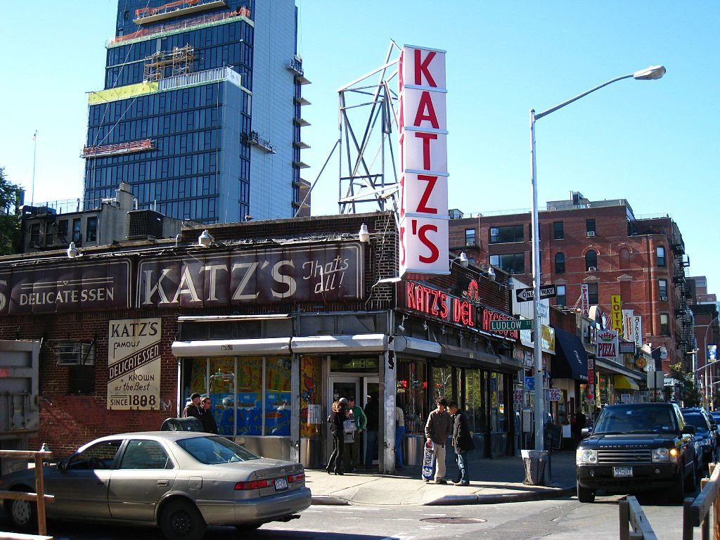 """Katz's Delicatessen"" By John  , via Wikimedia Commons"