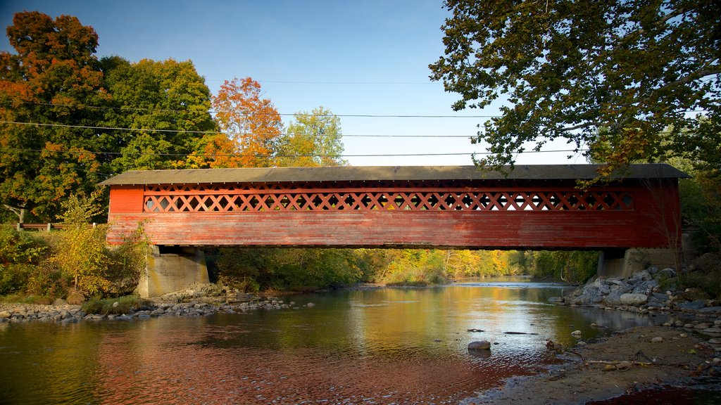 Southern Vermont which includes a river or creek, tranquil scenes and a bridge