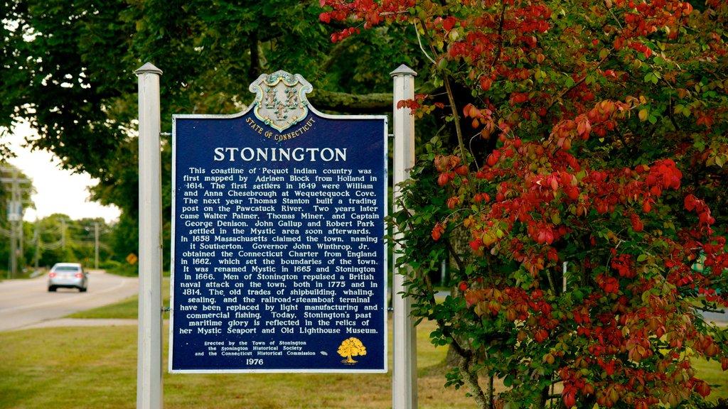 Stonington showing signage