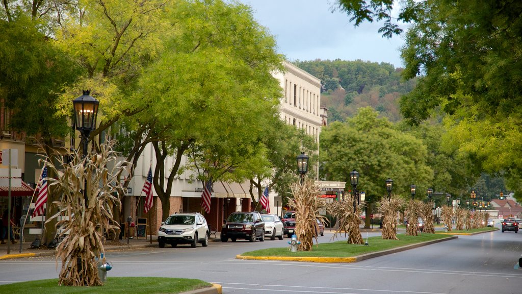 Wellsboro which includes a small town or village