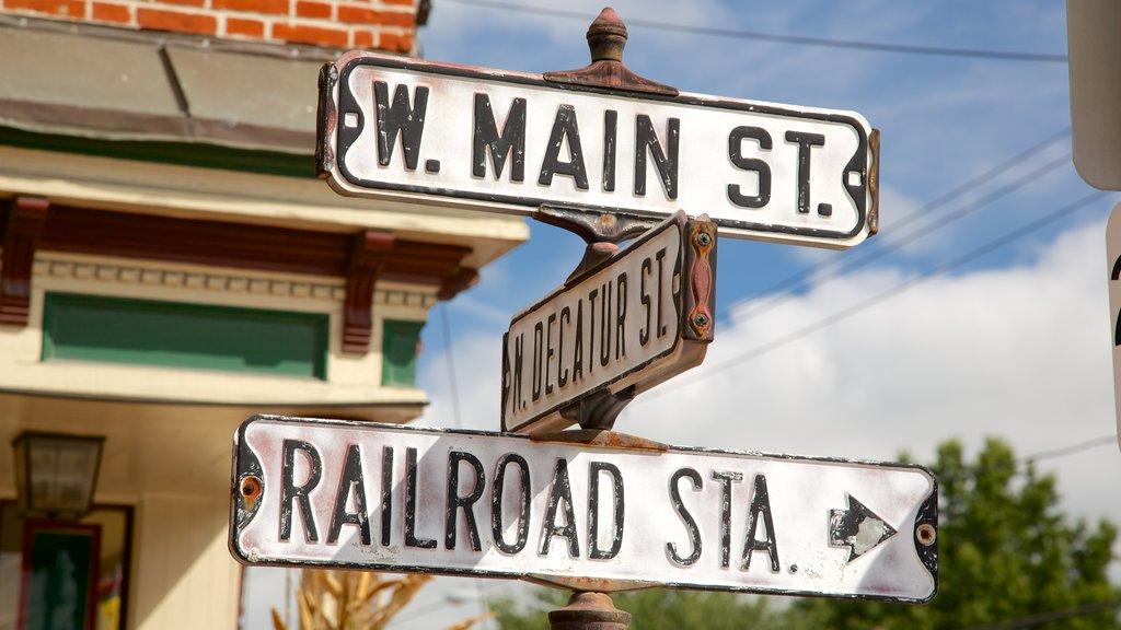 Strasburg featuring signage