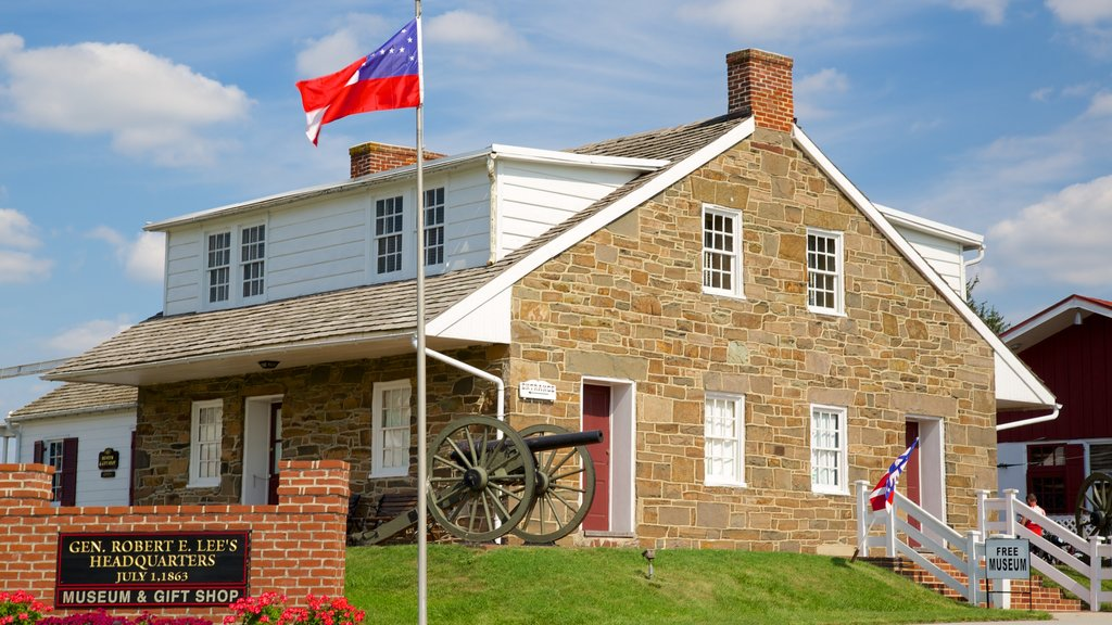 Gettysburg National Military Park showing heritage architecture