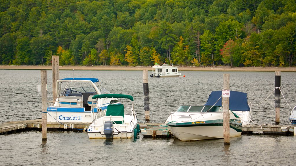 Lake Champlain Ferry featuring a marina and boating