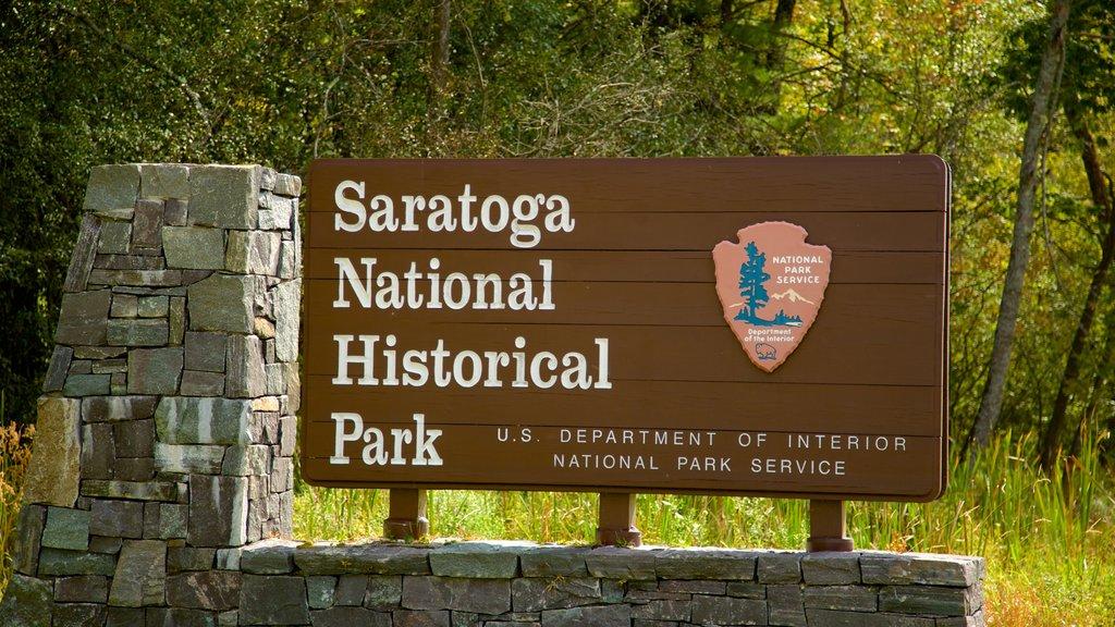 Saratoga National Historical Park showing signage