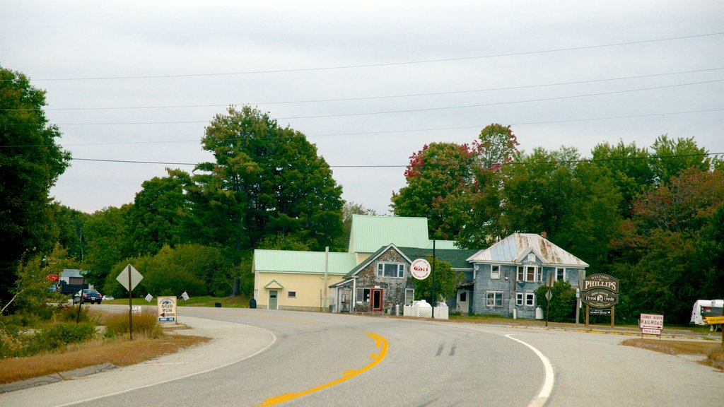 Bar Harbor showing a small town or village