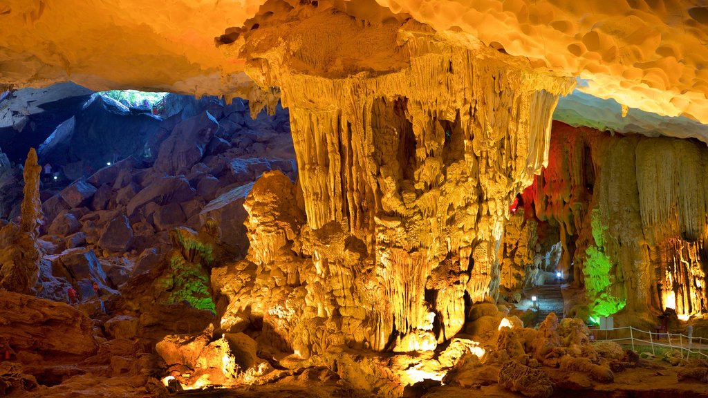 Halong Bay featuring caves
