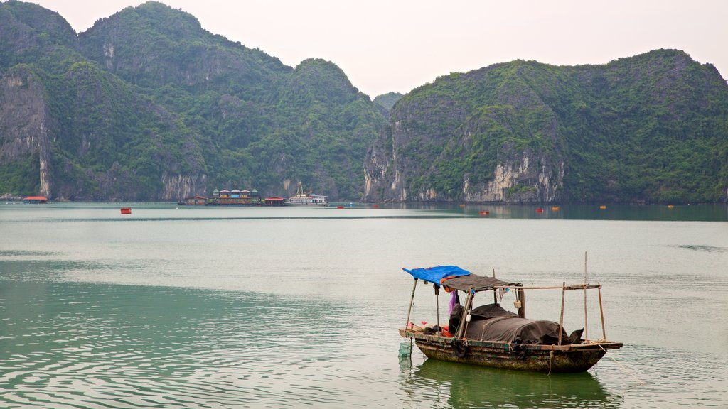 Halong Bay featuring a bay or harbor and mountains