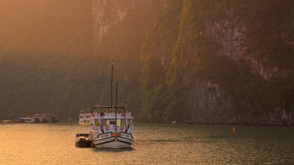 Halong Bay featuring boating and a bay or harbor