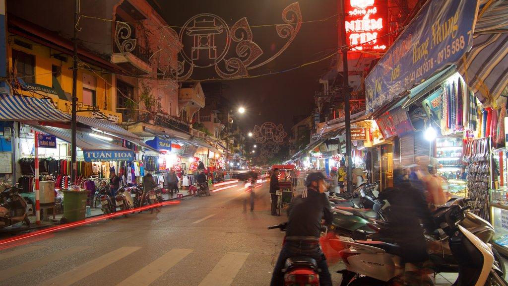 Hanoi which includes street scenes