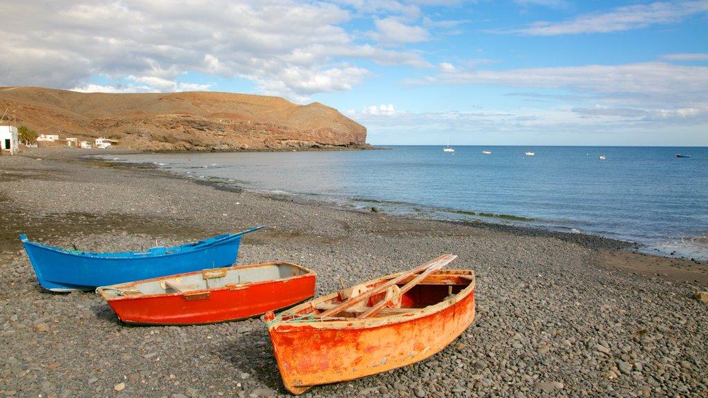 Fuerteventura featuring boating, a pebble beach and rocky coastline