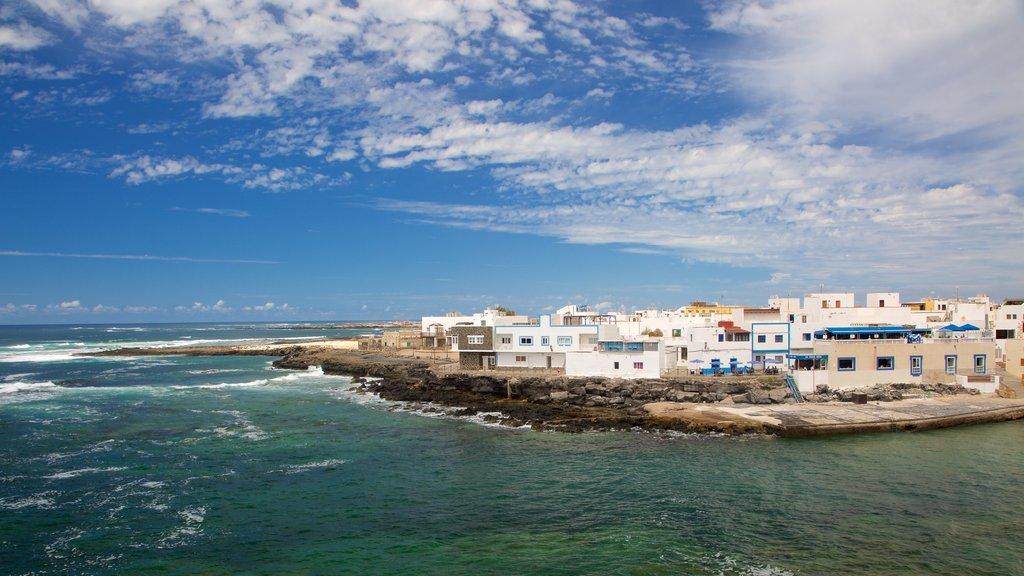 El Cotillo featuring rocky coastline, a coastal town and general coastal views