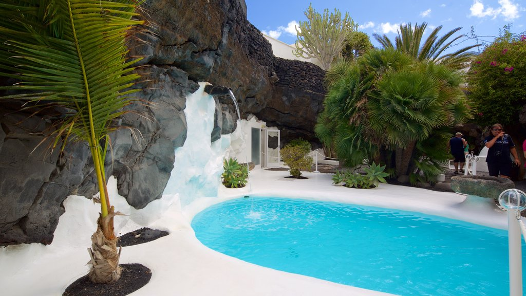 Cesar Manrique Foundation which includes tropical scenes and a pool