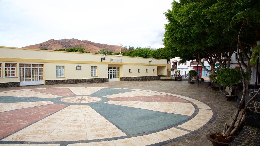 Pajara which includes a square or plaza