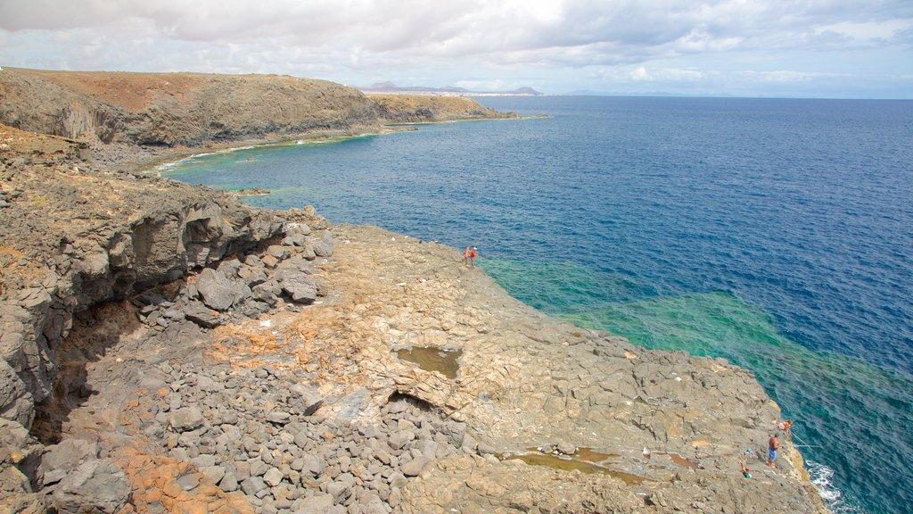 Costa de Antigua showing rocky coastline