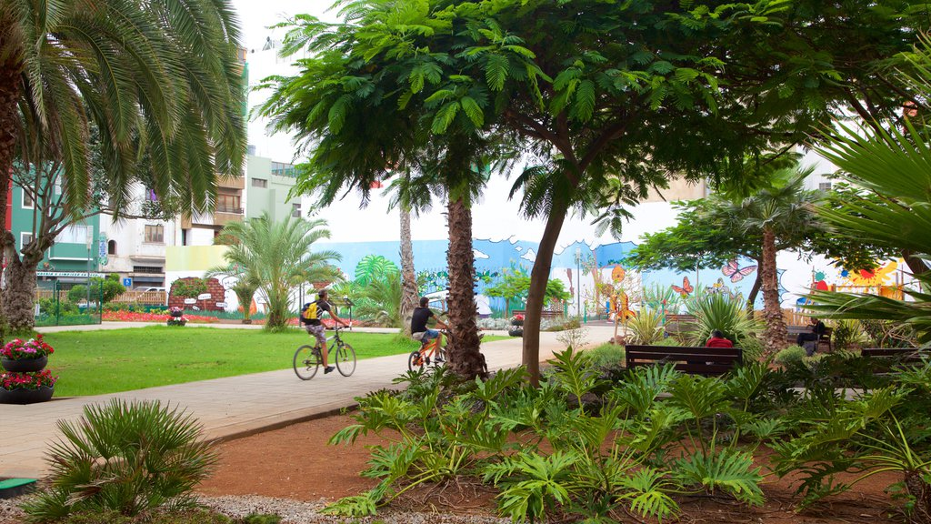Las Palmas de Gran Canaria showing cycling and a park
