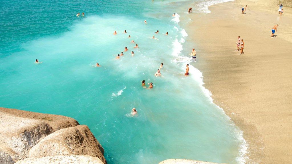 Del Duque Beach featuring a beach, general coastal views and swimming