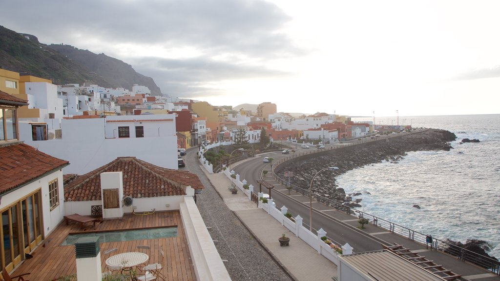 Garachico which includes a coastal town and general coastal views