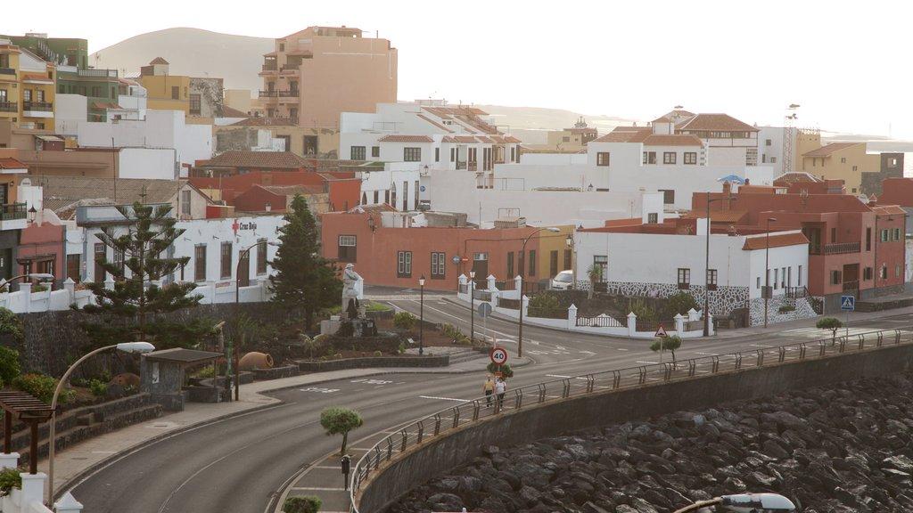 Garachico which includes a coastal town and a city