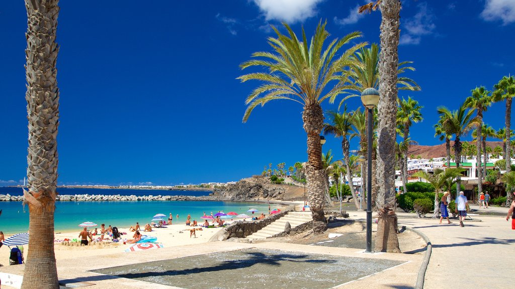 Playa Blanca featuring a sandy beach and general coastal views