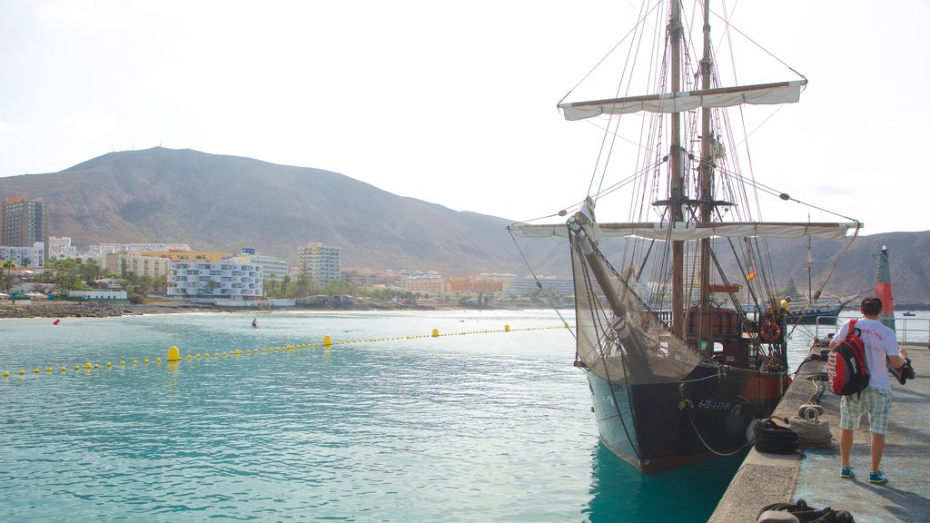Los Cristianos featuring a bay or harbor and boating