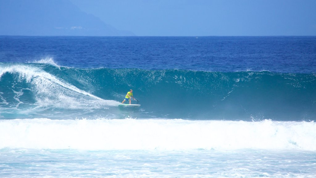 Playa de las Americas which includes surfing and surf as well as an individual male