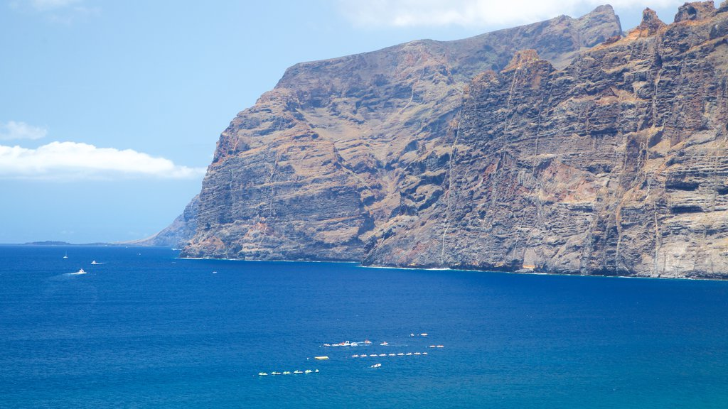 Los Gigantes featuring boating and rugged coastline