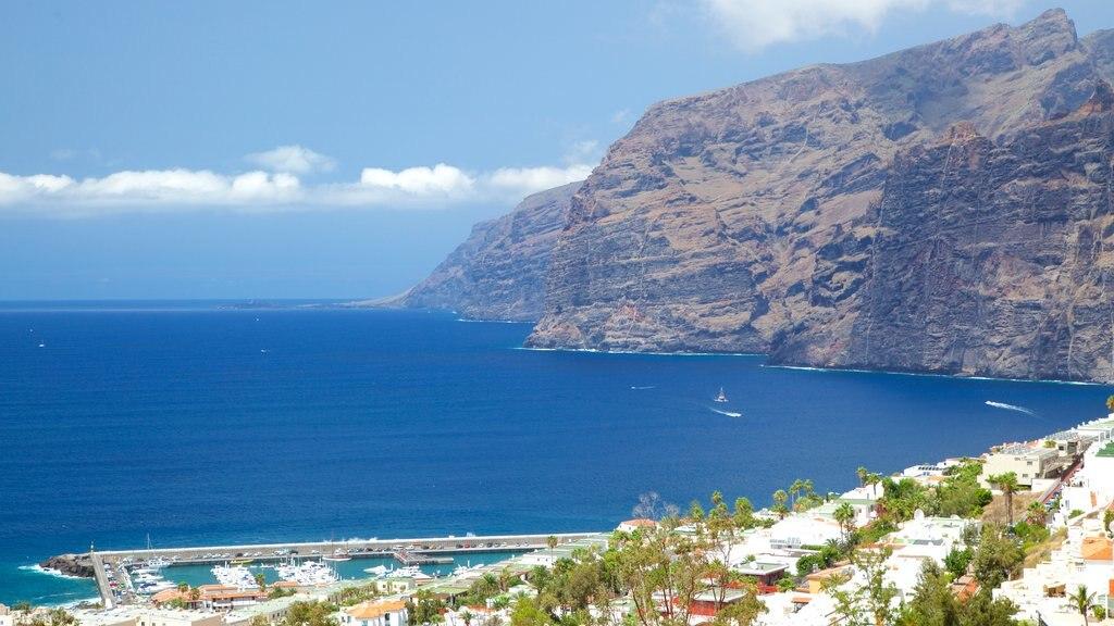 Los Gigantes which includes rugged coastline and general coastal views