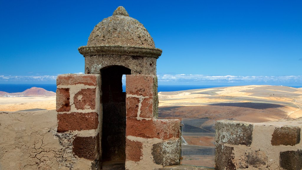 Santa Barbara Castle which includes desert views and chateau or palace