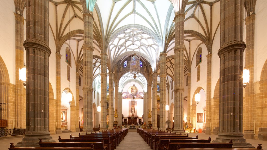 Cathedral of Santa Ana featuring interior views, heritage architecture and a church or cathedral