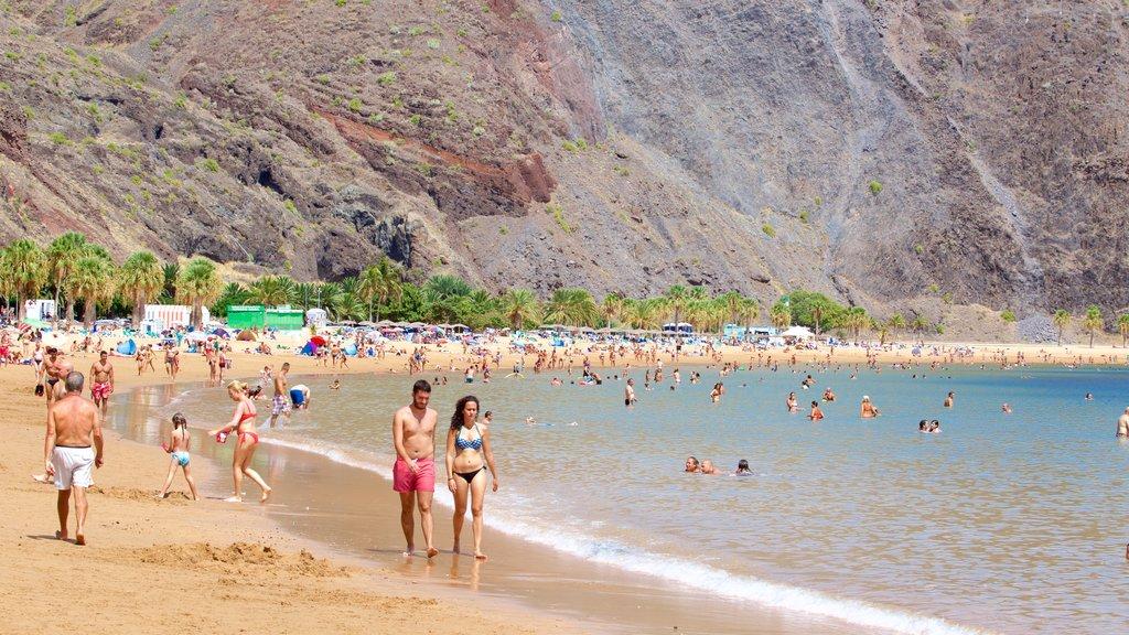 Teresitas Beach which includes general coastal views, a beach and swimming