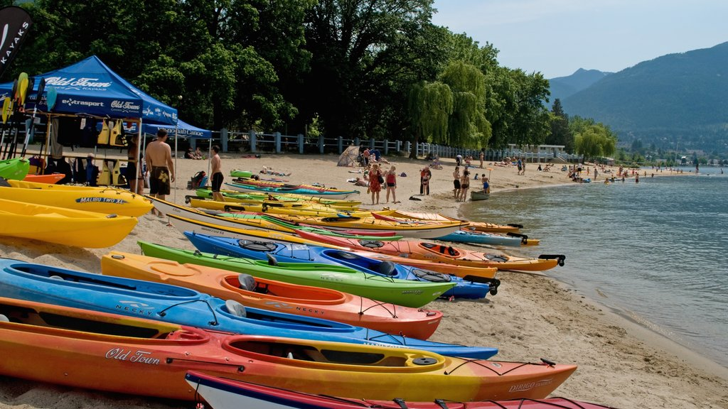Nelson featuring general coastal views, a beach and kayaking or canoeing