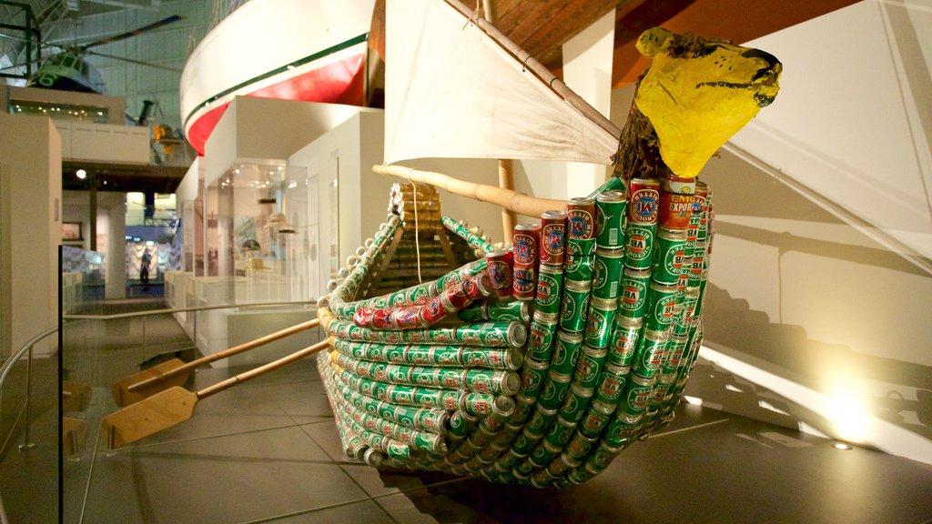 Australia National Maritime Museum featuring interior views and art