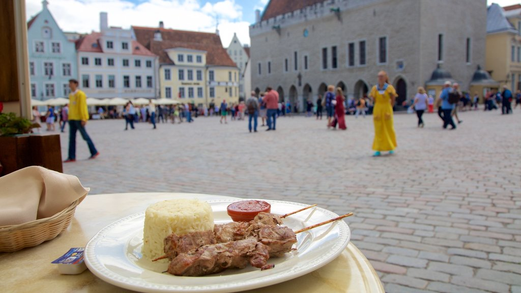 Tallinn featuring food and a square or plaza