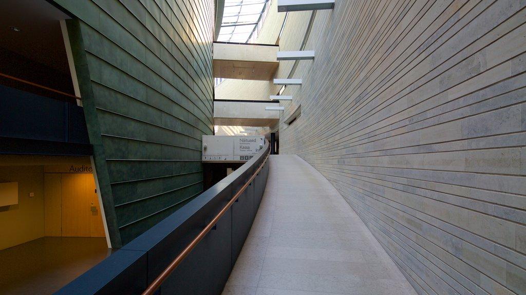 Kumu Art Museum featuring modern architecture and interior views
