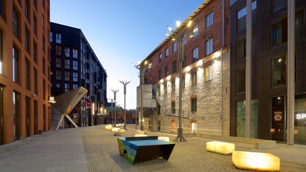 Rottermann Quarter featuring night scenes